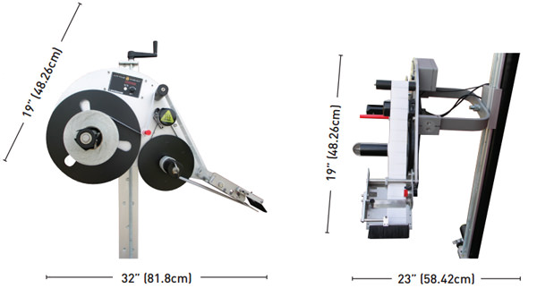 Dimensions of the LX-500P machine