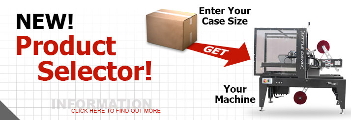 New! Product Selector! | Case size machine operations