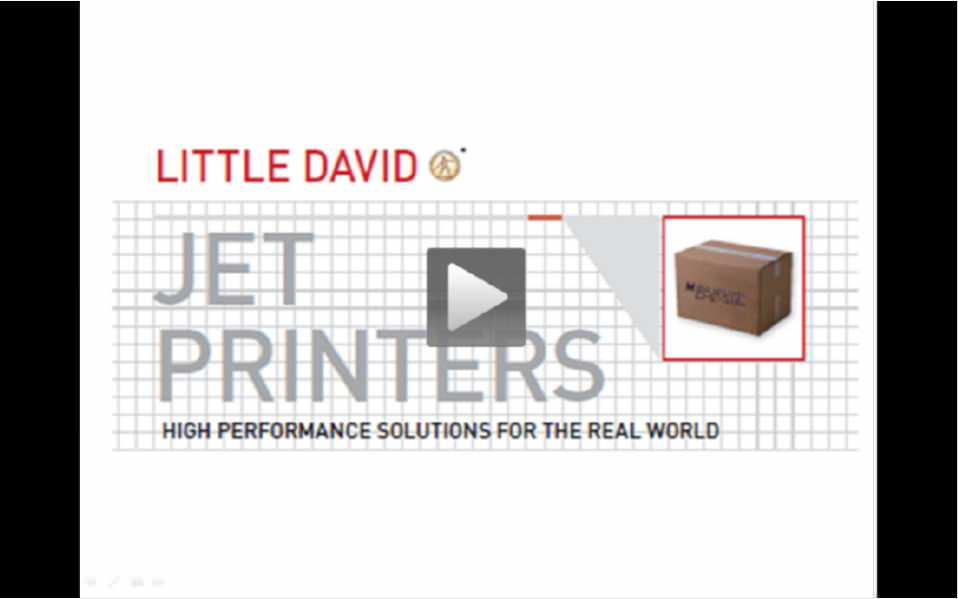 Jet Printer Overview Video